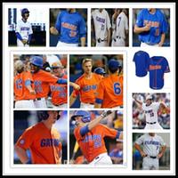 أزياء رجالية رخيصة مخصص فلوريدا gators NCAA كلية البيسبول 8 الشماس ليبوت 22 JJ Schwarz 51 Brady Singer 16 Wil Dalton 44 Austin Jerseys