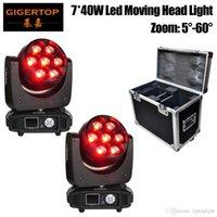 2IN1 Flightcase Упаковка 7x40W RGBW СИД Moving Head Light Увеличить Мини Bee Eye / Hawk Eye Увеличение 12 / 17CH Beam Wash эффект 2IN1 TP-L740