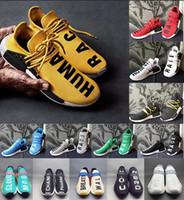 2020 MD Human Race Herren Laufschuhe mit Kasten Pharrell Williams Probe Yellow Core-Schwarz Sport Designer-Schuh-Frauen-Turnschuhe 36-47