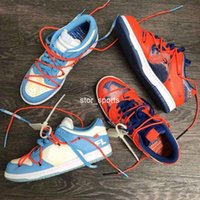2019 OFF-WHITE x Futura x Nike Dunk Low Off Damen Herren Laufschuhe Blau Orange Skateboard Designer Weiß Sport Sneakers Eur 36-45