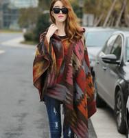 2019 nouvelles femmes d'hiver Boho manteau à capuchon Cape Poncho dames Châles enveloppent femme écharpe couverture en cachemire à carreaux Pashmina Bufanda Mujer GB1401