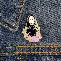 할로윈 에나멜 브로치 마녀 마녀 골격으로 둘러싸인 옷 옷깃 핀 배지 펑크 쥬얼리 선물 친구를위한