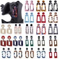 ERD10 + 13-16 패션 여성 새로운 Boho 기하학적 매달려 드롭 후크 아크릴 수지 귀 스터드 귀걸이 쥬얼리 술 장식 귀걸이