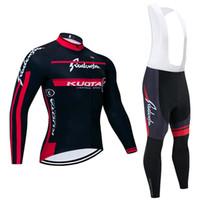 2020 Vinter Ny Kuota Cykling Team Jersey Bibs Byxor Ställ Ropa Ciclismo Mens Kvinnor Vinter Thermal Fleece Pro Bike Jacket Maillot