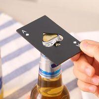 창조적 인 포커 카드 맥주 병 오프너 개인 재미 스테인레스 스틸 신용 카드 오프너 카드 스페이드 바 도구 DHL