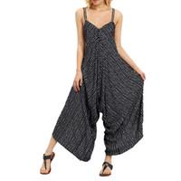 Yeni Moda Kadınlar Strappy V Boyun Bandaj Gevşek Tulum Parti Clubwear Tulum DropShipping