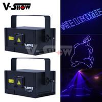 V-Show Avrupa Depo 1 W Yeni Tasarım RGB Animasyon Lazer Işık DMX Kontrol Yazma Sahne Programlanabilir Projektör DJ Bar Disko Için