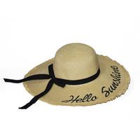 2020 dôme de tendance mode bowknot grands avant-toits tressées dames voyagent chapeau de soleil crème solaire plage