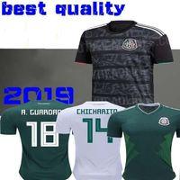 f17fb1e2b Wholesale mexico soccer jerseys black online - 2019 Gold Cup Camisetas Mexico  soccer jersey CHICHARITO LOZANO