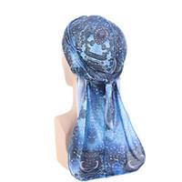 Sombrero de cuidado del cabello para hombre Sleep Cap Durags y sets capo Paisley la impresión del modelo del capo Mujeres Día Noche raso de seda Pañuelos Du Rags