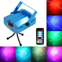 Effets à LED Mini 9W 7Color Dynamique Waterwave Sound actif avec le contrôleur DJ Equipment pour la lampe de la fête du club KTV disco lumières DHL