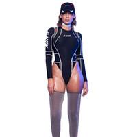 Mujeres Sexy Club Bodycon Body Para Niñas Malla Patchwork Imprimir Manga Larga Peluches Falso Triángulo Corto Monos