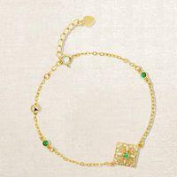 jóias S925 prata pulseiras de ouro 18k escultura pulseiras rendas esmeralda para as mulheres moda quente
