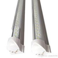 더블 행 클리어 커버 T8 LED 튜브 조명, 투명 커버, 1 피트 2 피트 3 피트 4 피트 5 피트 6 피트 8 피트, 2700K-3500K 4000-4500K 5000-5500K