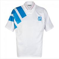 Ретро ОМ 1992/93 футбольные трикотажные майки Deschamps Boxsic Völler Pelé Boli Vintage Kit Classic рубашка