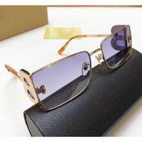 Nouvelle saison femme designer lunettes de soleil petit cadre métallique carré jambes double lettre B lunettes de protection style simple mode UV400 3110