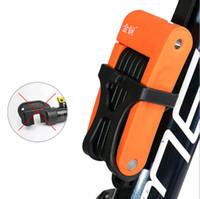 Велосипед Складной замок велосипеда стальная катушка цепи велосипеда безопасности Блокировка Anti-Shear блокировки для велосипеда аксессуары 3 цвета