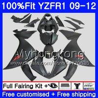 Injection pour YAMAHA YZF 1000 R 1 YZF R1 2009 2010 2011 2012 2012 noir mat chaud 241HM.50 YZF-1000 YZF-R1 YZF1000 YZFR1 09 10 11 12 Kit de carénage