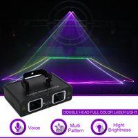 عدسة مزدوجة rgb بالألوان الكاملة dmx شعاع ليزر ضوئي ضوء dj المعرض حزب الحفلة الرئيسية ktv المرحلة الإضاءة تأثير 506RGB