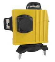 Freeshipping 3D Laser Nível 650nm 12 Linhas Cross Nível Auto Nivelamento Ao Ar Livre 360 Ferramentas de Feixe de Laser Vermelho Rotary