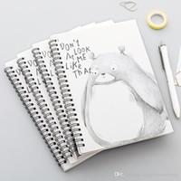 Student Stationery Office-Protokoll-Auflage 4 Stück Spulen Tragbare Notebook Mini Trompete Taschen-Notizblock Spirale Reise-Journal-Buch-Schule BC BH1497