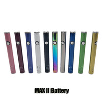 Max Ii 2 Bateria 450mAh VAZ VAZ VAZ VAK PEN COM BOTE USB Carregamento para 510 cartuchos de óleo de espessura 10 cores