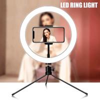 Os mais recentes 26 centímetros selfie anel luz LED estúdio da fotografia Photo Camera Ring Light com tripé para Smartphone Make Up Youtube