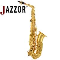 Sassofono JAZZOR professionale JYAS-E100G E sassofono contralto piatto con bocchino in bachelite Oro lacca Eb strumento a fiato in ottone