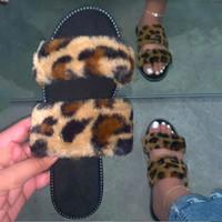 Bayanlar Seksi Yaz Terlik Sandalet Moda Yeni Leopard Slaytlar Ayakkabı Kadın Ev Kürklü Peluş Terlik Toptan yazdır