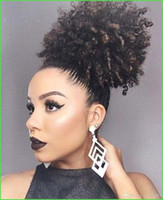 Natural hair afro kinky curly human hair ponytail for black ...