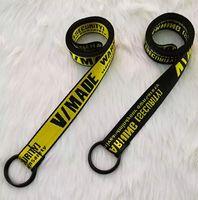 200cm New Canvas Gürtel für Männer Frauen Hip Hop Gürtel Straße beiläufige lose Taillen-Bügel-Qualitäts-Yellow Belt Gürtel
