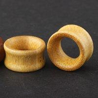 خشب الخيزران مزود بسدادة الأذن ثقب مقياس 8-20m 70pcs