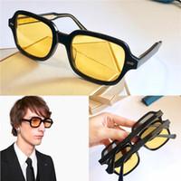 Nuevas gafas de sol de diseñador de moda 0072 tamaño de marco cuadrado de vanguardia popular de color de la luz de estilo retro gafas de sol estilo de decoración populares
