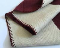 Letra Cashmery Manta Manta de imitación Bufanda de lana suave Shafal Portátil Tela escocesa Sofá cama Fleece Punto Tiro Towell Cabo Rosa Manta