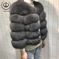 نساء الحارة ريال معطف الفرو قصير سليم الشتاء الفراء حقيقية سترة معطف أزياء ألبسة التنزه الطبيعية للبنات -034