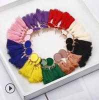 Quastenohrringe arbeiten böhmische handgewebte lange Quastenohrringe für preiswerten Ohrring vieler Farben 1003 der Hochzeitsfestgeburtstagsgeschenke um