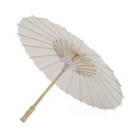 White Party di bambù Ombrello di carta cinese Craft Umbrella Pittura Danza Libro bianco Ombrelli da sposa decorazioni VT0420
