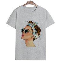 티즈 플러스 사이즈 여성 여름 보그 인쇄 레이디 캐주얼 T 셔츠 하라주쿠 스트리트 워트 짧은 소매 O 넥 탑 Camisetas Mujer