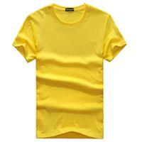 2019 nova alta qualidade T-shirt Dos Homens T camisa Homme Roupas Mangas Curtas Camiseta Undershirts Sólidos Algodão Mens Camiseta verão