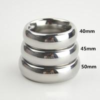Мужское кольцо для пениса из нержавеющей стали 40мм / 45мм / 50 мм (опция) Шариковая каталка SH190727