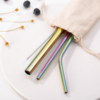 Shuangtong Stainless steel straw three- piece adult color gol...