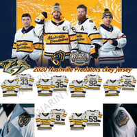 2019-2020 Invierno Classic Nashville Predators Jerseys 91 Seguin 14 Jamie Benn 9 Filip Forsberg 59 Roman Josi Jerseys de hockey sobre hielo blanco