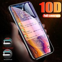 Nuevo 10D de cubierta completa Edge Tempered Glass para iPhone 7 8 6 Plus Protector de pantalla para iPhone 6 6s 7 Plus Glass Protector de película