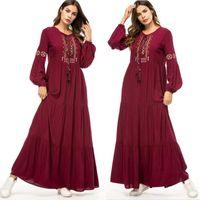 Abaya Qatar UAE turco islâmico Malásia Ruffle plissadas muçulmano Hijab Vestido Abayas Para Mulheres Robe Musulmane Kaftan Dubai Roupa