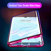 360 Full Magnetic Metal Bumper Double Face Couleur Dégradé Cas de TéléphoneCouvrent Pour Huawei P30 NOVA 5 Pro Mate 20x P20 Honor 9X 8X 20 10 cas