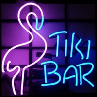 New Star Neon Sign Factory 17X14 pollici Real Glass Glass Sign Light per Beer Bar Pub Garage Room Flamingo Tiki Bar.