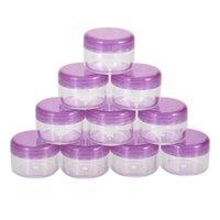 10 pezzi mini cosmetici vaso vuoto Pot di trucco Nail Face Cream Container Plastic Art Cosmetic Bead contenitore di stoccaggio rotonda