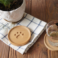 Прекрасный деревянный Кружки Coaster кофе чашка чая Подстаканники Изоляция Mat Кухня Placemat Чаша Колодки Симпатичные Закуска лоток Настольные принадлежности