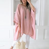 Casual Tunics Plus Size Batwing Sleeve Womens Blouses Loose ...
