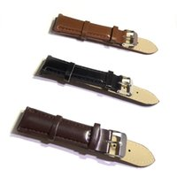 18 milímetros 20 milímetros Preto Brown bezerro Genuine Leather Watch Band Strap pulseira